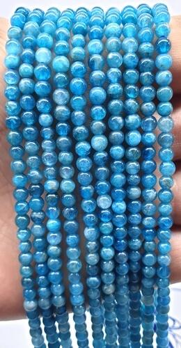Perles Apatite Extra 4mm sur fil 40cm