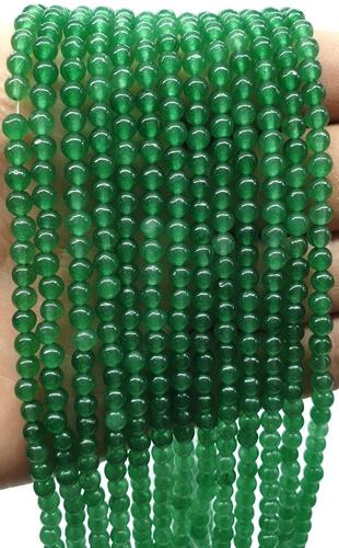 Perline di avventurina verde 4 mm su un filo di 40 cm