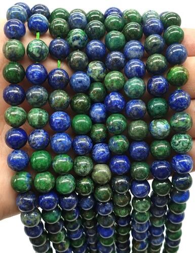 Perles Azurite 10mm sur fil 40cm