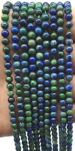 Perles Azurite 4mm sur fil 40cm