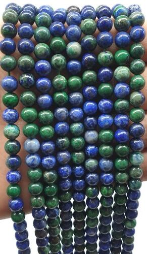 Perle di azzurrite 6mm su un filo di 40cm