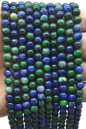 Perle di azzurrite 8mm su un filo di 40cm