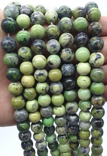 Perline di crisoprasio da 10 mm su un filo da 40 cm