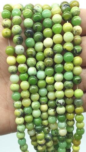 Perline di crisoprasio 6 mm su un filo di 40 cm