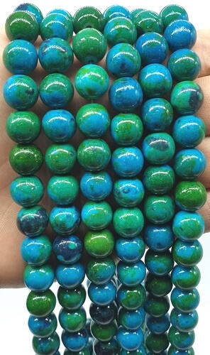 Perles Chrysocolle 10mm sur fil 40cm