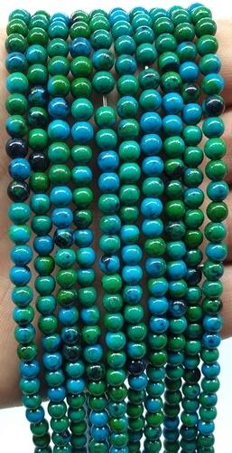 Perles Chrysocolle 4mm sur fil 40cm