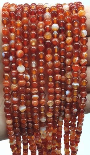 Perle di corniola 4 mm su filo da 40 cm