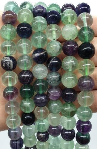Perles Fluorite Multi 10mm sur fil 40cm