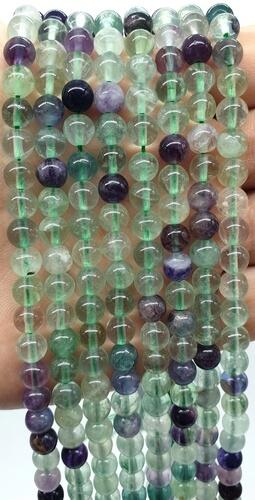 Perles Fluorite Multi 6mm sur fil 40cm