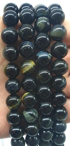 Perles Oeil de Faucon naturel 10mm sur fil 40cm