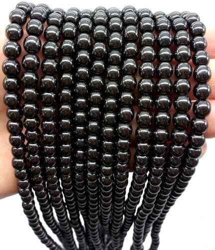 Perle di ematite da 6 mm su filo da 40 cm