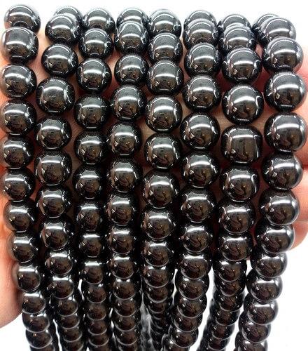Perles Hematite 8mm sur fil 40cm