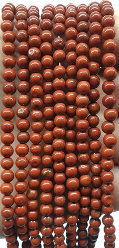 Perle di diaspro rosso 4 mm su un filo di 40 cm
