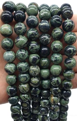 Perle di Jasper Kambaba da 10 mm su un filo da 40 cm