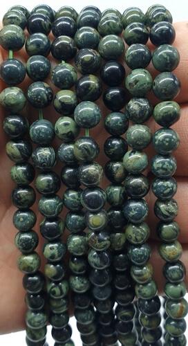 Kambaba Jasper perline 8mm su un filo di 40cm