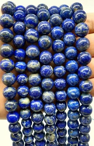 Perles Lapis Lazuli 'A' naturel 10mm sur fil 40cm