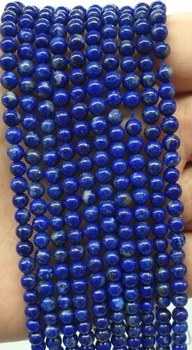 Perles Lapis Lazuli 'A' naturel 4mm sur fil 40cm