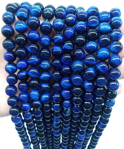 Blue Tiger Eye Beads 8mm su filo da 40 cm
