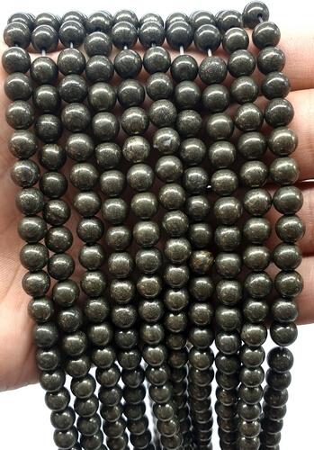 Perles Pyrite 8mm sur fil 40cm