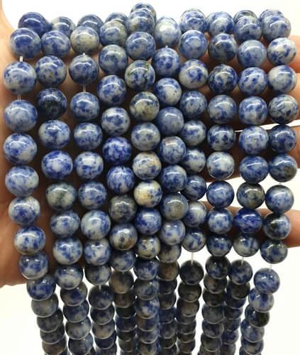 Perles Sodalite 10mm sur fil 40cm