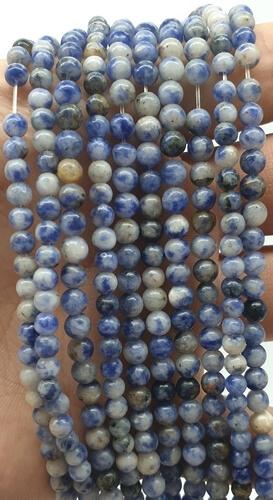 Perle di sodalite 4 mm su un filo di 40 cm