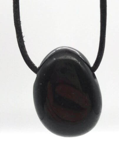 Tourmaline Noire roulée Percée 3cm