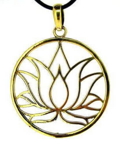 Pendentif Bronze Fleur de Lotus 4cm