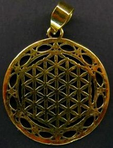 Pendentif Bronze Fleur de Vie 4cm
