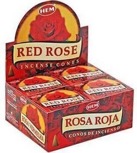 Encens HEM Cônes Rose Rouge