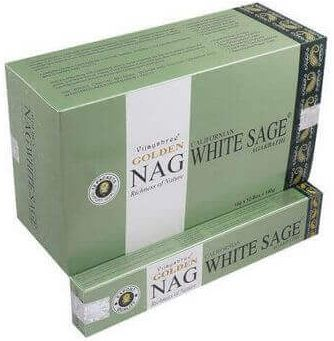 Encens Golden Nag Sauge Blanche 15g
