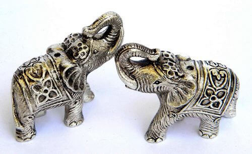 Elephant Metal Statue Mini 6cm