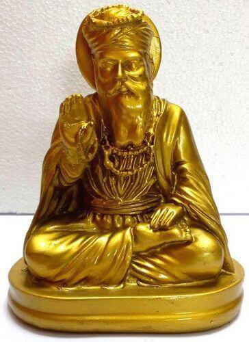 Statua in resina Indhi Gold 13cm