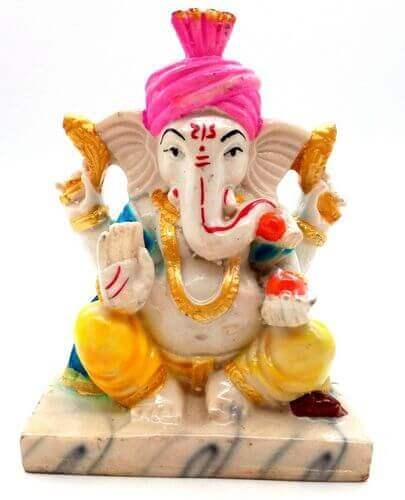 Estatua de resina Ganesh Multi 13cm
