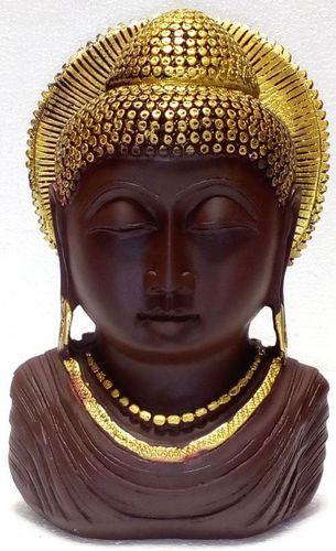 Statua Busto in resina Buddha Sole antico 19cm