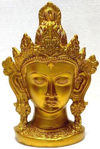 Estatua de resina Cabeza de Buda Oro 15cm