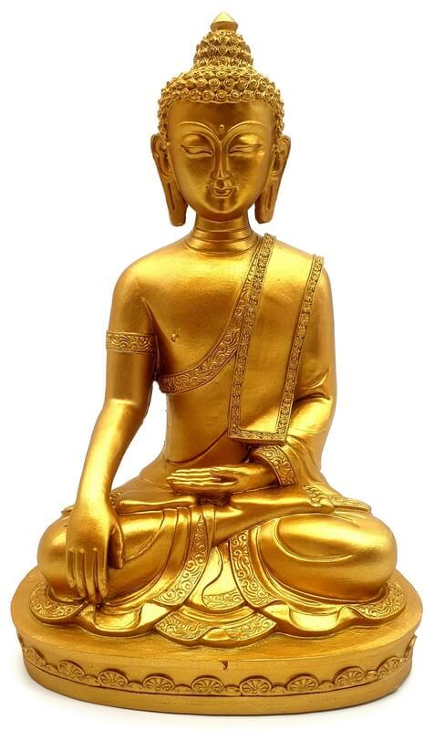 Statua del Buddha in resina sull'altare 19cm