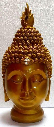 Estatua de resina Cabeza de Buda Oro 28cm