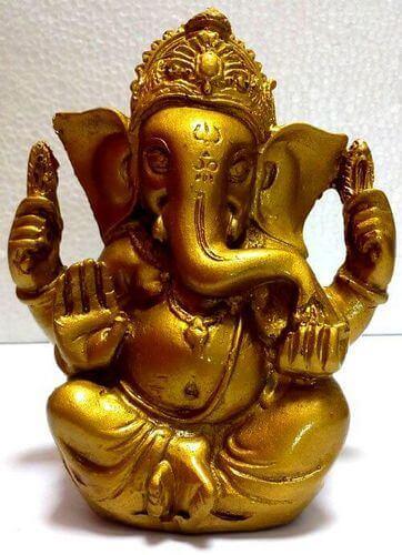 Estatua de resina Ganesh Oro 13cm