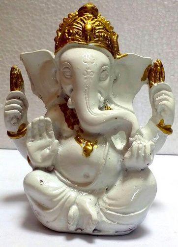 Estatua de resina Ganesh blanca 13cm