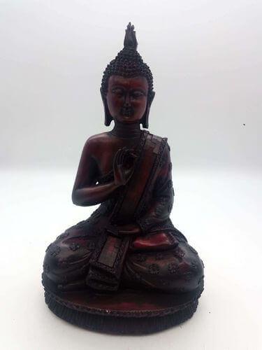 Estatua de resina antigua de Buda 28cm