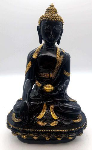 Estatua de resina Buda y Cuenco Negro 28cm