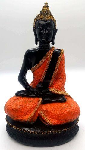 Estatua de Buda de resina de meditación y cuenco de naranja 28 cm