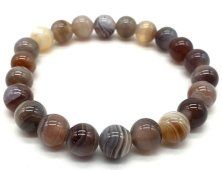 Bracelet Agate Bostwana perles 8mm