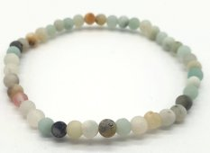 Bracelet Amazonite Multi perles 4mm