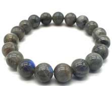 Bracelet ''Blue Light'' Labradorite perles 10mm