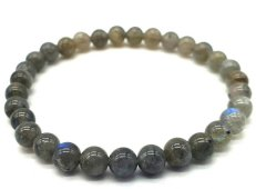 Bracelet ''Blue Light'' Labradorite perles 6mm