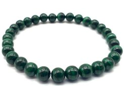 Bracelet 'Dark Green' Malachite perles 6mm