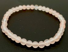 Bracelet Quartz Rose Perles 4mm
