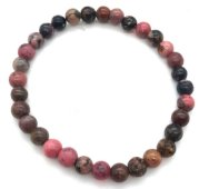 Bracelet Rhodonite perles 6mm