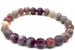 Bracelet Tourmaline Multicolore perles 8mm